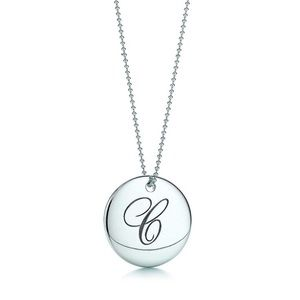 "Tiffany Notes ""C"" charm and necklace"